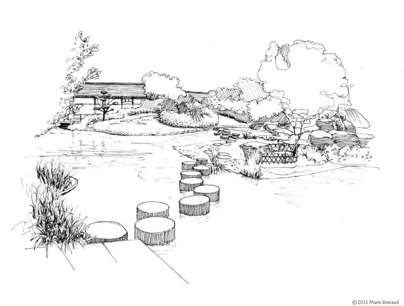 Jardins Nantais Marie Bretaud Illustration Paysage Architecture